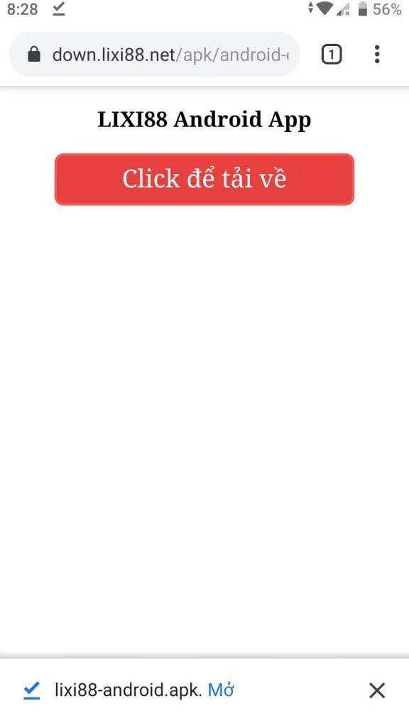 hướng dẫn tải app lixi88 trên android